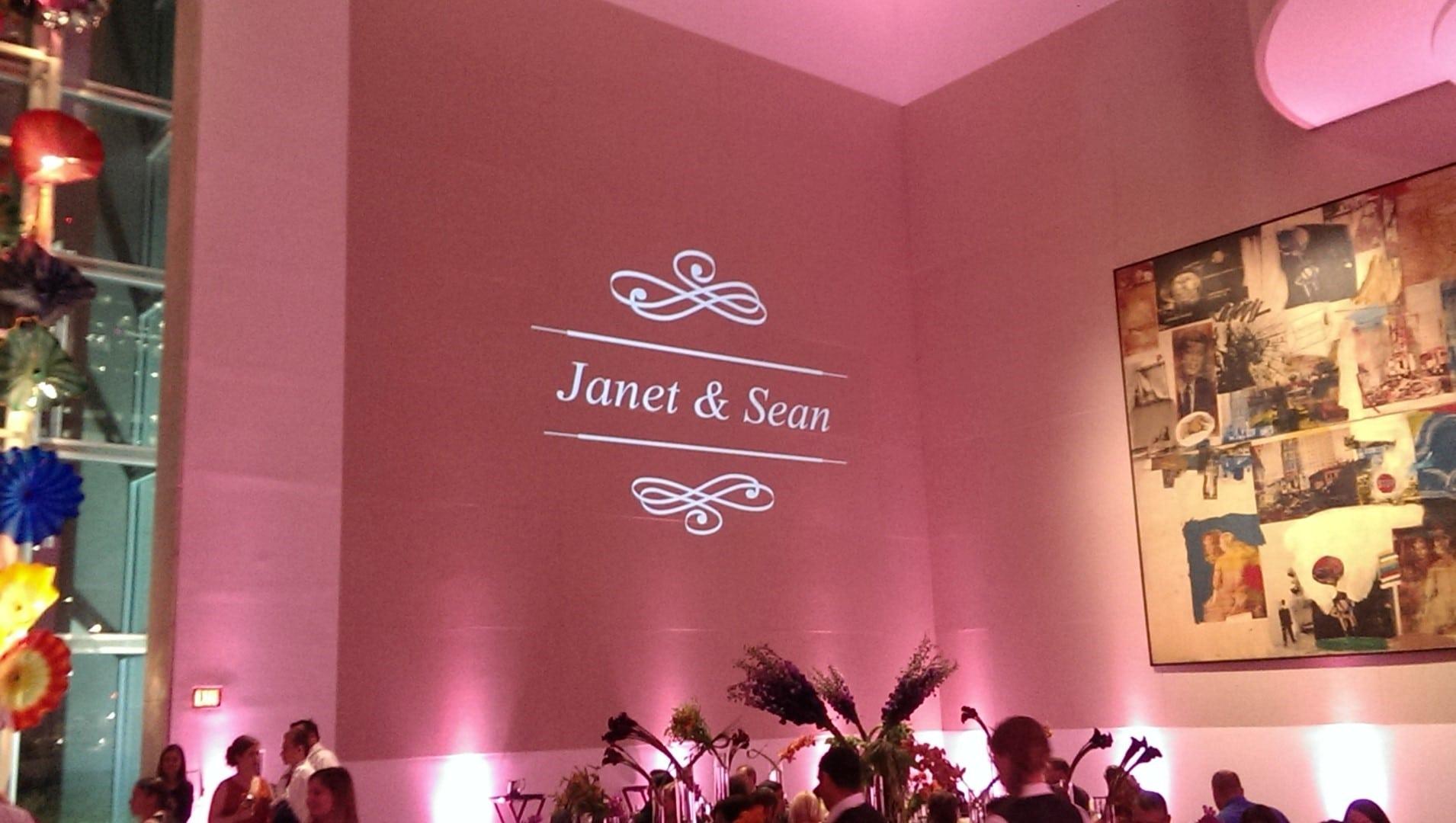 wedding monogram lighting